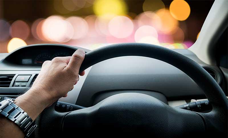 driving night